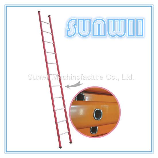 Straight Steel or Aluminum/Aluminium Scaffold Step Ladder