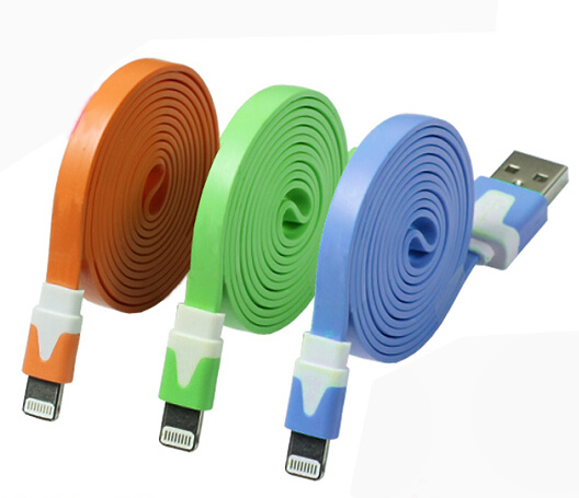 4 Pin Charger Cable for iPhone4 iPhone4s/ 8 Pin Lighting Noodle Cable for iPhone5 iPhone6 / Noodle Cableflat Cable for Android Smartphone USB Data Cable pictures & photos