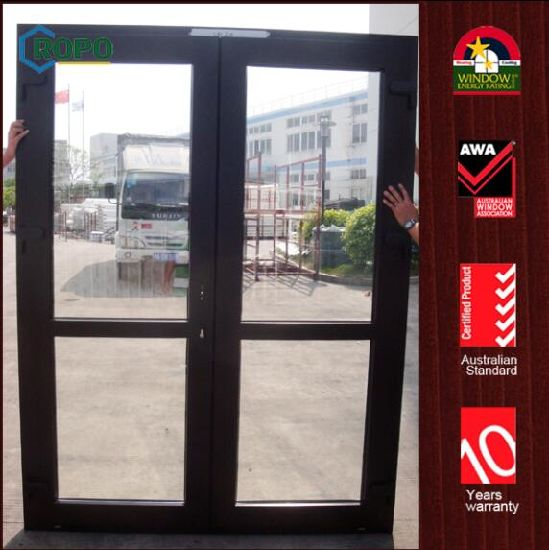 China Wooden Interior Upvc Door Interior Glass French Doors China