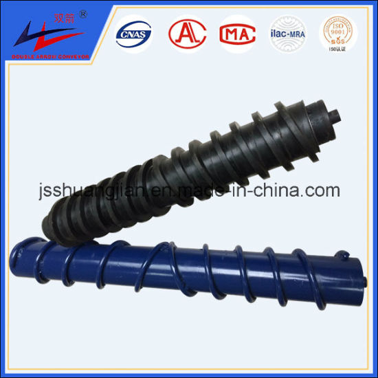 Straight Spiral Rubber Roller and Bi-Direction Spiral Rubber Roller for Belt Conveyor pictures & photos