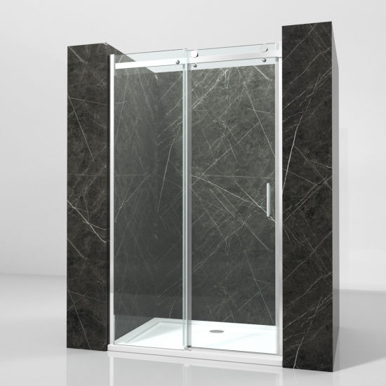 China Bathroom 8mm Tempered Glass Sliding Shower Cubicle Door Price