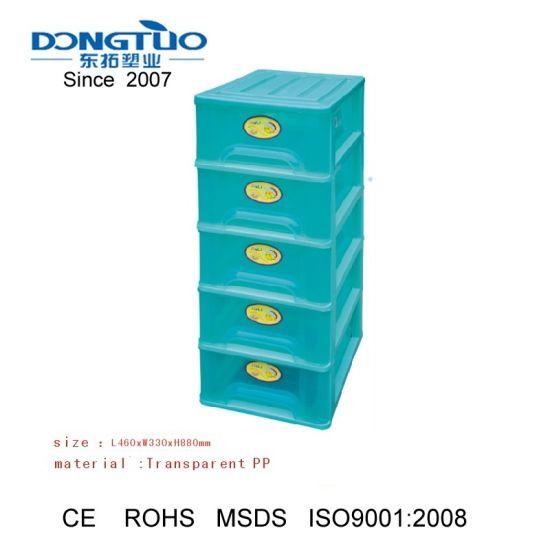 5 Drawer Wide Tower 5 Drawer Desktop Storage Unit PP Plastic Storage Cabinet 5 Drawers  sc 1 st  Ningbo Dongtuo Plastic Co. Ltd. & China 5 Drawer Wide Tower 5 Drawer Desktop Storage Unit PP Plastic ...