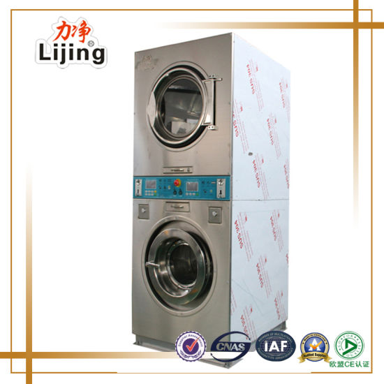 Coin Operated Stack Washer Dryer Commercial Laundry for Philippines Market