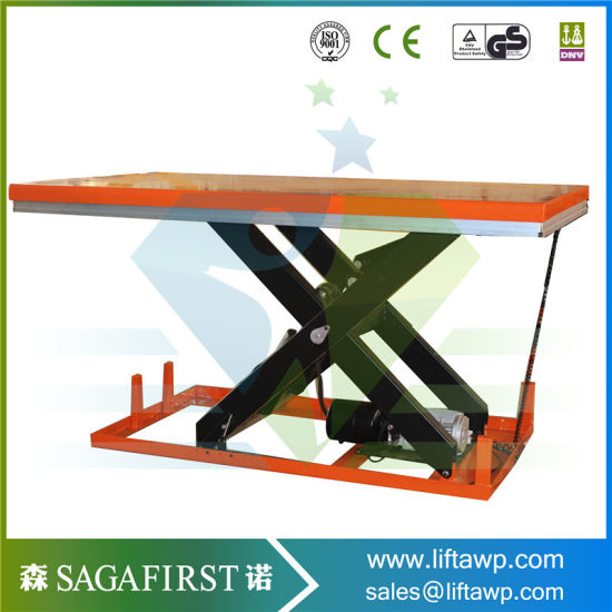 china 1000kg hydraulic fixed roller conveyor scissor lift table