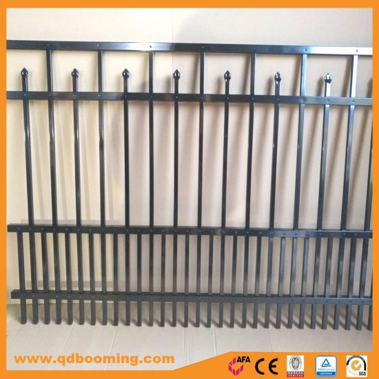 Powder Coated Spear Flat Top Garden Fence Wholesale