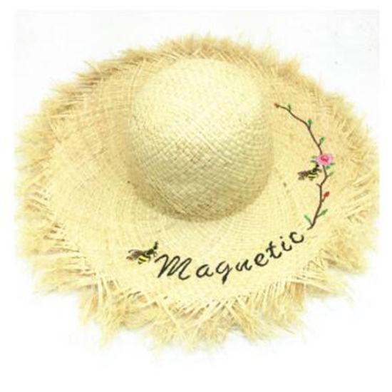 2018 New Style Fashion Raffia Straw Hat Big Brim Hat