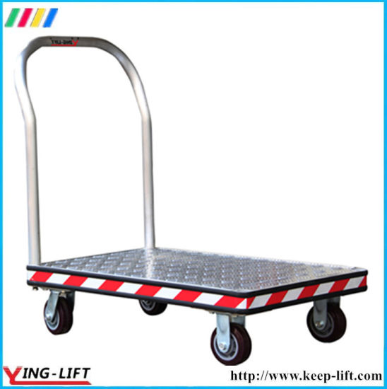 Heavy Duty Aluminum Platform Hand Truck with 4 Wheels Af2448 pictures & photos
