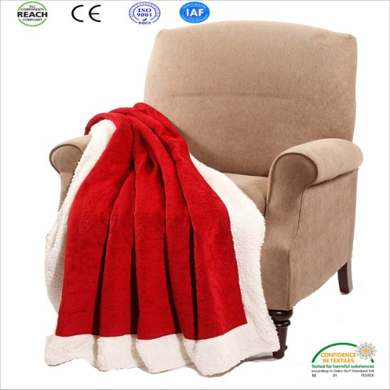 China Wholesale Soft Royal Sherpa Throw Plush Blanket For
