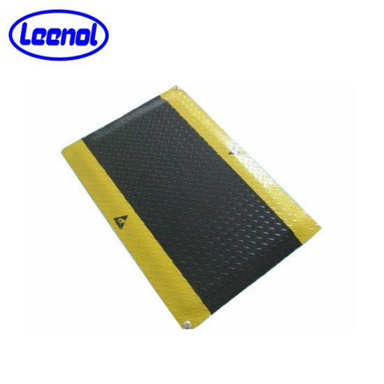Yellow and Black ESD Antifatigue Mat for Antistatic Antifatigue Mat and Floor Mat