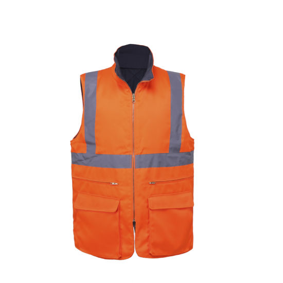 Work Construction Security High Visibility Reflective Safety Vest pictures & photos