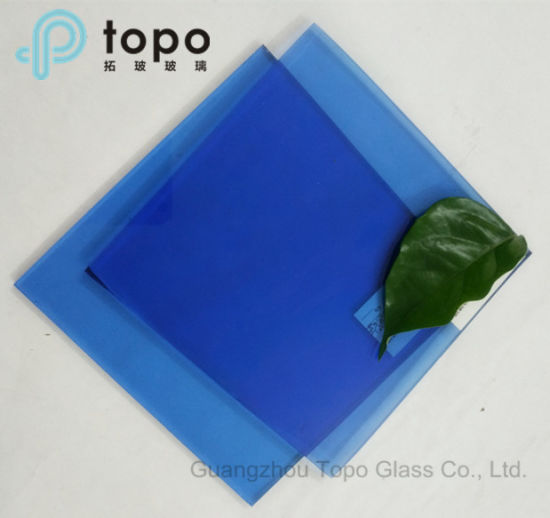 China Colored Dark Blue Windows Glass / Tinted Float Sheet Glass (C ...