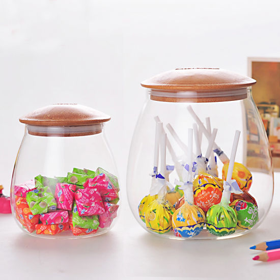 China Candy Glass Kitchen Storage Jar Glass Food Candy Jar