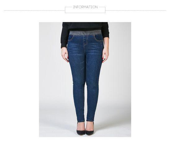 China Plus-Size Elastic Waist Pants Women′s Jeans - China Women ...