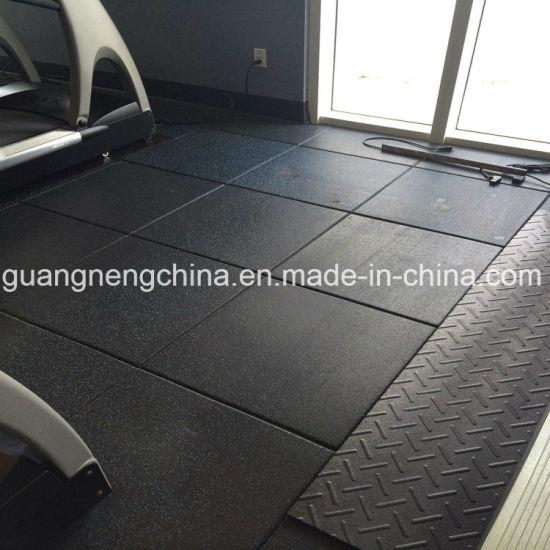 Indoor Gym Rubber Tile Flooring