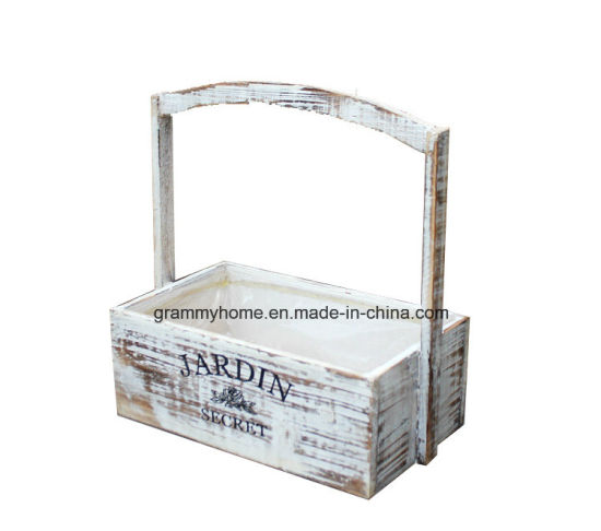 China White Stained Aged Vintage Wooden
