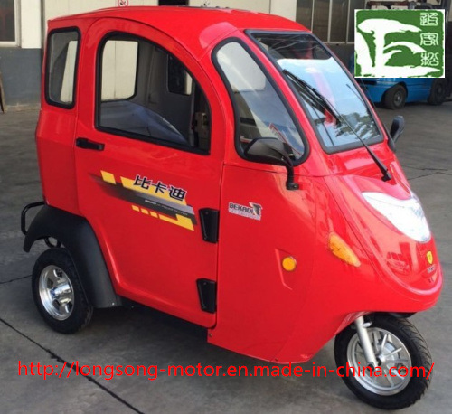 Electric Passenger Tricycle with Whole Windshield Covered