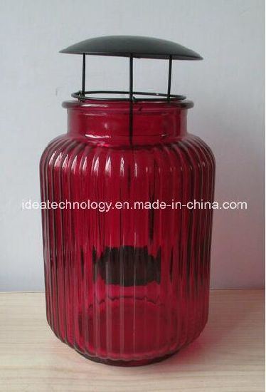 Home Decoration Colorful Glass Candle Holder Storm Lantern pictures & photos