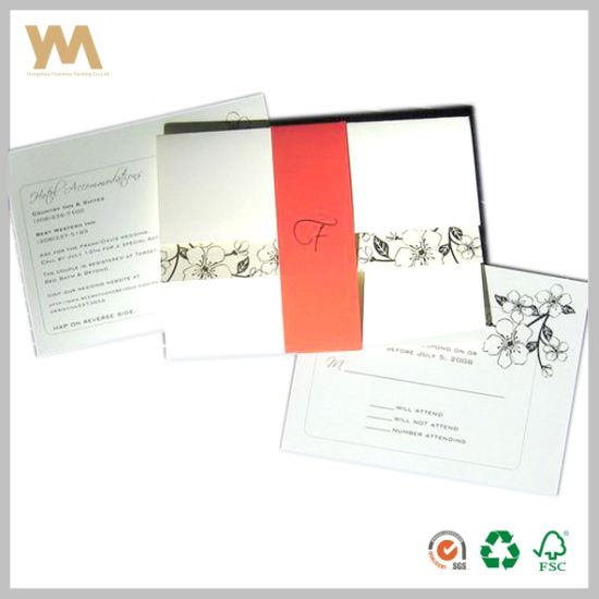 China New Design Wedding Invitation Card With Envelope