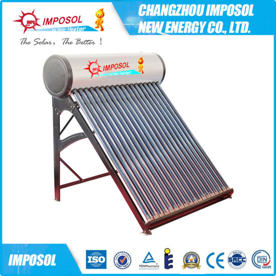 High Quality Low Pressure Vacuum Tube Solar Water Heater (100L) (IPYM) pictures & photos