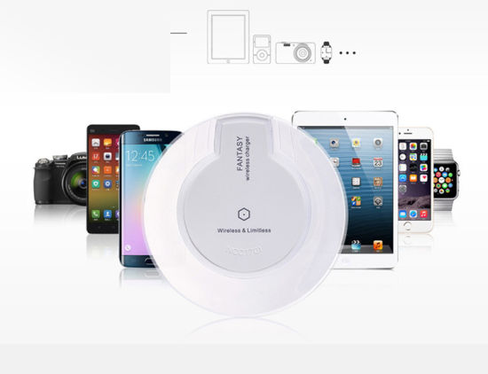 Wireless Charger for Samsung/LG/iPhone/HTC/Mi/Huawei Smartphone iPhone5S/iPhone6/iPhone6s Mobile Phone 1A-3.2A pictures & photos