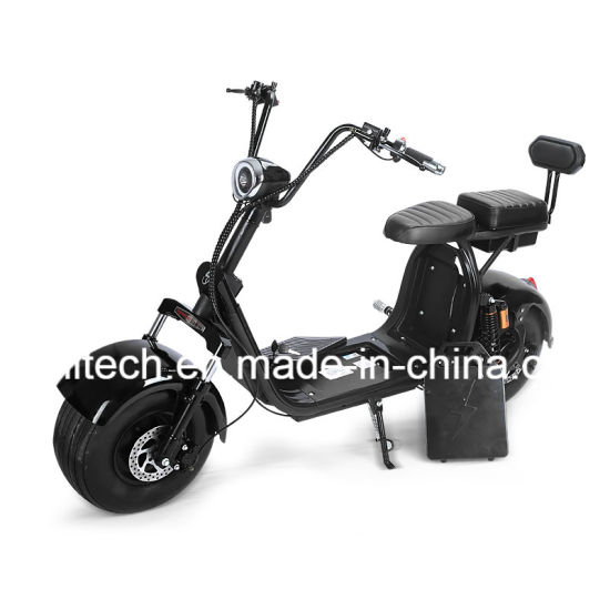 China 60v 1500w Big Electric Harley Scooter Citycoco With Removable