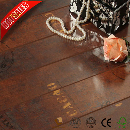 China Beveled Painted V Groove 8mm 12mm Marble Look Laminate