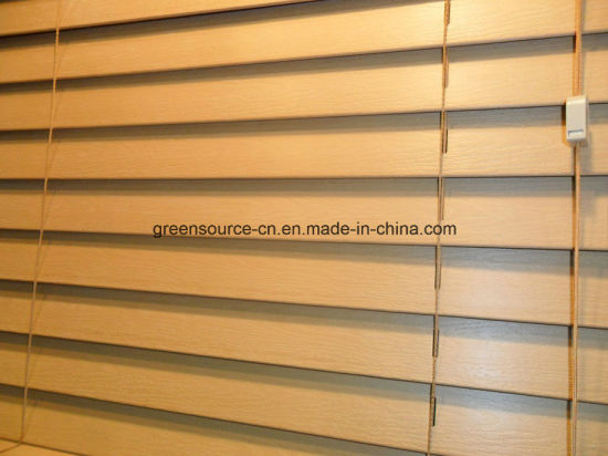 "2"" Faux Wood Venetian Blind (PVC Window Curtains) pictures & photos"