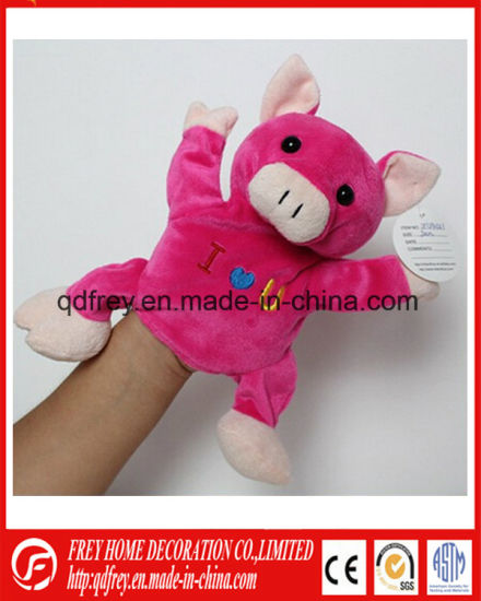 Pink Cute Hand Puppet Toy of Plush Pig