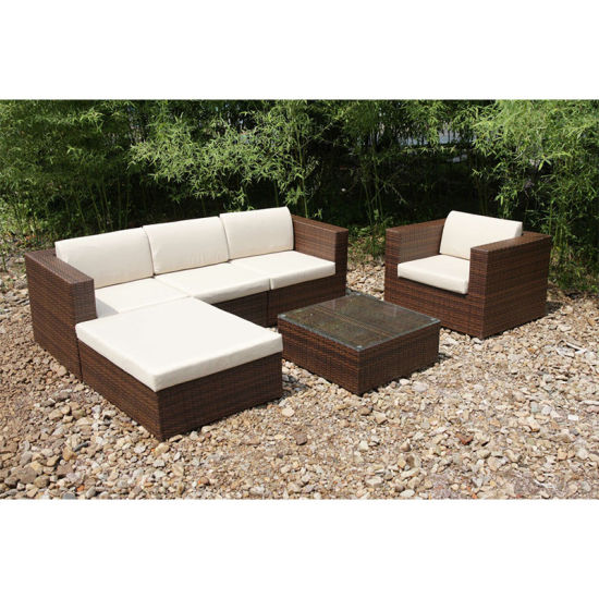Simple Wooden Lounge Sofa Set Garden Patio Outdoor Furniture  (FS 4115+FS 4116+FS 4117)
