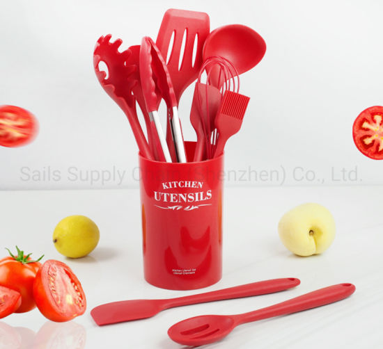 10/11PCS Silicone Cooking Tool Sets Utensil with Spatula Scoop