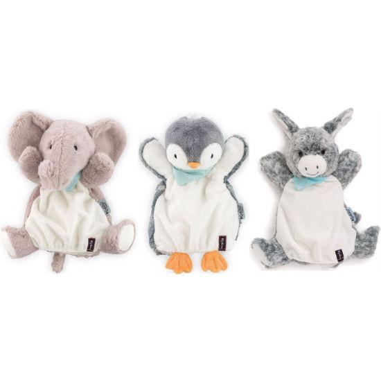Kaloo Doudou Hand Puppet Penguin Elephant Donkey Soft Toy Baby