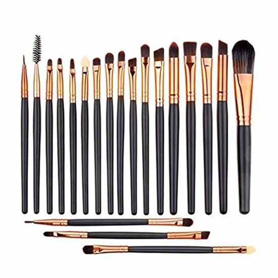 20 PCS Eye Makeup Brushes Set, Eyeliner Eyeshadow Blending Brush, Wool Make up Brush Set, Powder Face Foundation Eyeshadow Eyeliner Lip Cosmetic Brushes