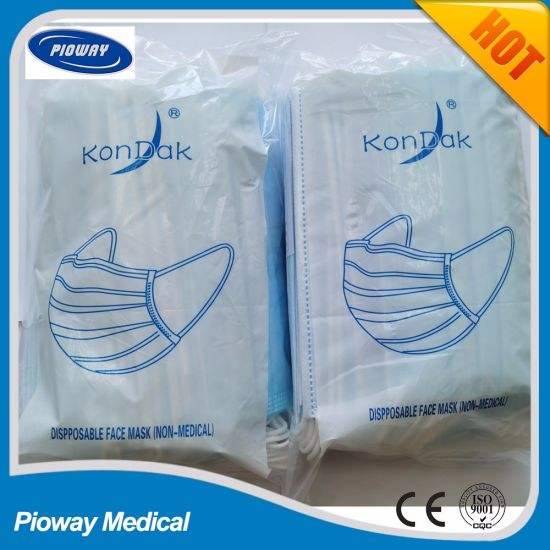 3ply Disposable Face Mask with Bag Package,