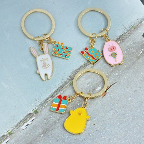 Custom Metal Art Crafts Laser Engraving Key Ring Fashion Decoration Key Holder Tag Floating Promotional Gift PVC Key Chains