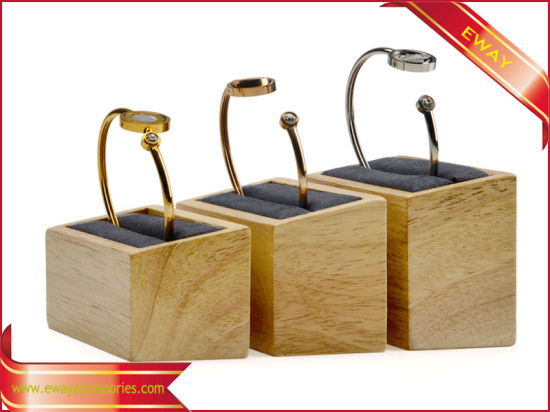 Wood Exhibition Display Ring Stand Jewelry Ring Display Stand Showcase