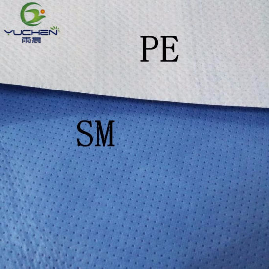 Hydrophilic Ultrasonic Smpe Nonwoven Fabric for Making Disposable Medical Products pictures & photos