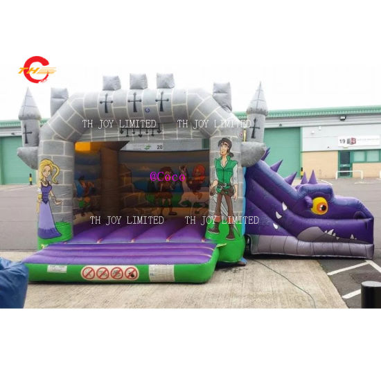5X4m Jumping Castle Inflatable Bouncer House with Slide, Durable Bounce Castle Knight Theme Jumping House pictures & photos
