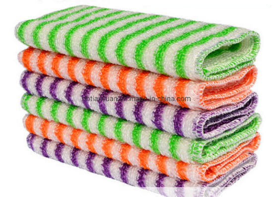 Bamboo Fiber Microfiber Cleaning Cloth Towel pictures & photos