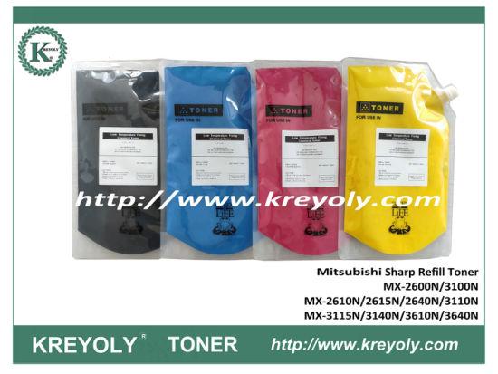 Mitsubishi Toner Refill Powder Sharp MX-2610N 2615N 2640N 3110N 3140N