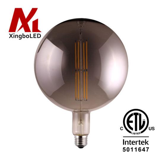 ETL Big Size E39 E40 G200 G300 Decorative LED Light Lamp in Amber, Smoky, Clear Glass