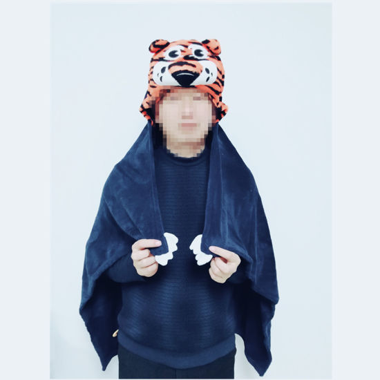 Hooded Thick Baby Blanket Cute Tiger Animal Shaped Blanket