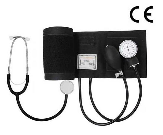 Aneroid Sphygmomanometer Kit with Single Head Stethoscope