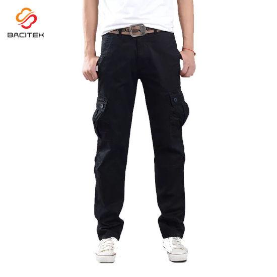 Wholesale Casual Work Wear Cotton Trousers Custom Fashion Men Leisure Tactical Cargo Pants