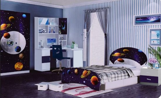 [Hot Item] Children Bed Room Sets Kid Furniture Kid Bed Single Bed Bunk Bed  High Quality Glossy Kid Bedroom Furniture New Design 2019