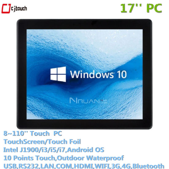 Cjtouch 17inch Wall Mounted Tablet Industrial PC Full HD 1920*1080 High Brightness 1000ints 4G RAM, 64G SSD