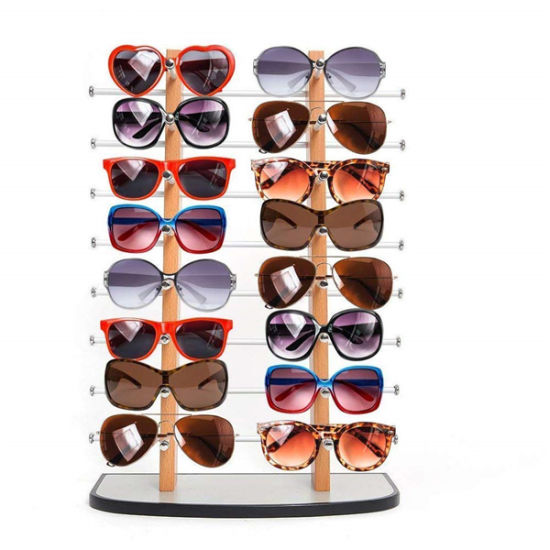 Metal Wood Sunglass Display, Sunglasses Display Rack, Eyewear Display