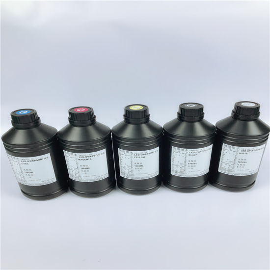 UV LED Curable Ink for Epson Dx5/6/7 Head for Soft Materials Printing