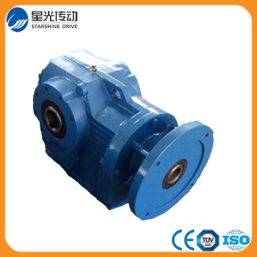Cast Iron Helical Worm Gear Reducer with Output Hollow Shaft Flange