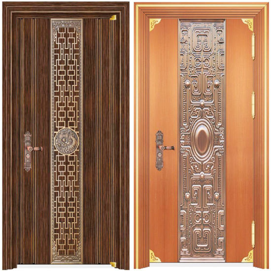 Wrought Iron Double Doors New House Front Used Stainless Steel Door