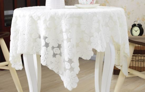Home Decoration Table Cover Floral Lace Textile Table Cloth pictures & photos